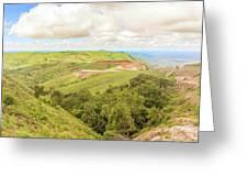 Road Landscape In Tanzania Greeting Card