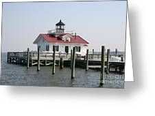 Roanoke Marshes Lighthouse Greeting Card