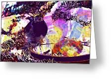 Robin Erithacus Rubecula Bird  Greeting Card