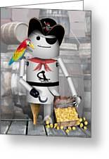Robo-x9 The Pirate Greeting Card
