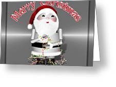 Robo-x9 Wishes A Merry Christmas Greeting Card