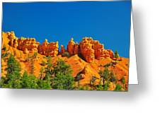 Rock Formations In Red Canyon Park In Utah. Greeting Card
