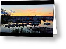Rockport Harbor Sunset I Greeting Card
