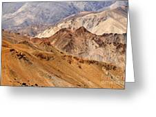 Rocks And Stones Mountains Ladakh Landscape Leh Jammu Kashmir India Greeting Card