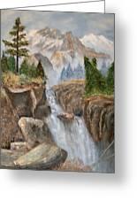 Rocky Mountain Waterfall Greeting Card by Alanna Hug-McAnnally