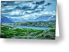 Rocky Mountains Nature Scenes On Alaska British Columbia Border Greeting Card