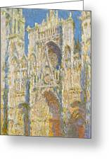 Rouen Cathedral, West Facade, Sunlight Greeting Card