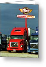 Route 66 - Dixie Truckers Home Greeting Card