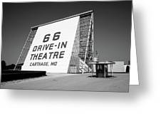 Route 66 - Drive-in Theatre Greeting Card