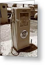 Route 66 Gas Pump Greeting Card