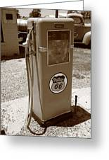 Route 66 Gas Pump Greeting Card