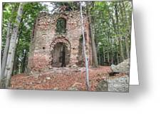 Ruins Of The Baroque Chapel Of Saint Mary Magdalene Greeting Card