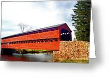 Sachs Bridge - Gettysburg Greeting Card