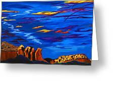 Sailing Sedonas Sky Greeting Card