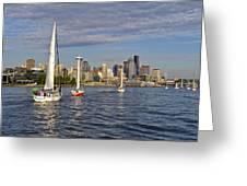 Sailing To Seattle Greeting Card