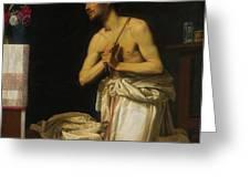 Saint Dominic In Penitence Greeting Card