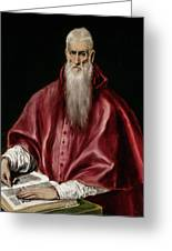 Saint Jerome As Scholar Greeting Card