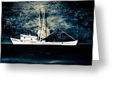 Salty Shrimp Boat Greeting Card