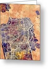 San Francisco City Street Map Greeting Card