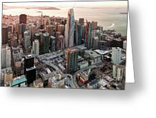 San Francisco Financial District Skyline Greeting Card
