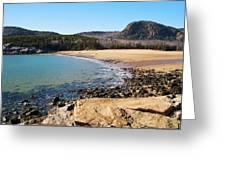 Sand Beach Acadia National Park Greeting Card