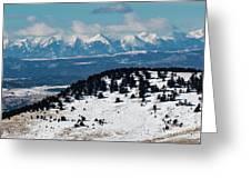 Sangre De Cristo Mountains In Winter Greeting Card