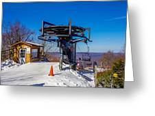 Scenery Around Timberline Ski Resort West Virginia Greeting Card