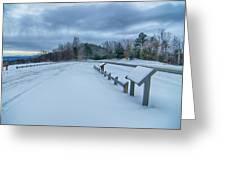 Scenic Views At Brown Mountain Overlook In North Carolina At Sun Greeting Card