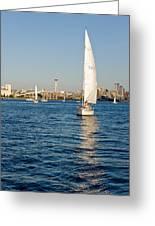 Seattle Sailing Greeting Card