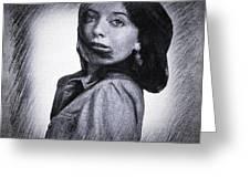 Selfportrait  Greeting Card by Colette V Hera Guggenheim