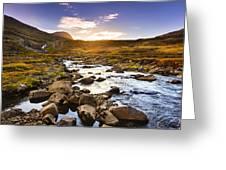 Seydisfjordur Fjord Valley Greeting Card