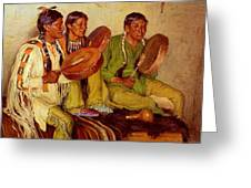 Sharp Joseph Henry Hunting Song Taos Indians Joseph Henry Sharp Greeting Card