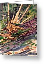 Shattered Pine Greeting Card