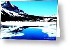 Shiny Snow Magic On Lake Greeting Card