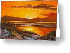 Siesta Sunset Greeting Card