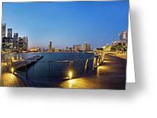 Singapore - Marina Bay Greeting Card