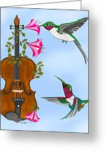 Singing The Song Of Life Greeting Card