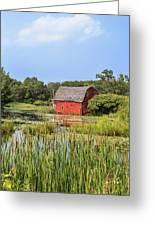 Sinking Red Barn #6 Greeting Card