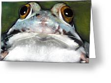 Sir Frog Greeting Card