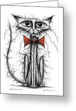 Skinny Cat Greeting Card