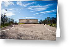 Slottet, The Royal Palace In Oslo, Norway Greeting Card