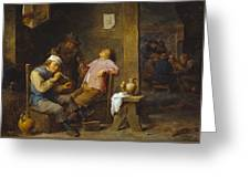 Smokers And Drinkers Greeting Card