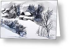 Snowed In Greeting Card