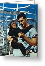 Space: Chimpanzee, 1961 Greeting Card
