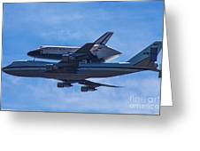 Space Shuttle Endevour Greeting Card