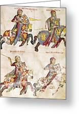 Spain: Knights, C1350 Greeting Card