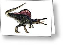 Spinosaurus Dinosaur, Artwork Greeting Card