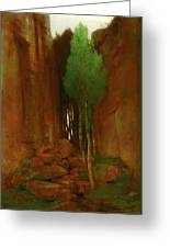 Spring In A Narrow Gorge  Greeting Card