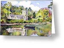 St Just In Roseland Church Greeting Card
