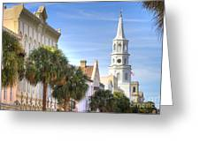 St Michaels Church Charleston Sc Greeting Card